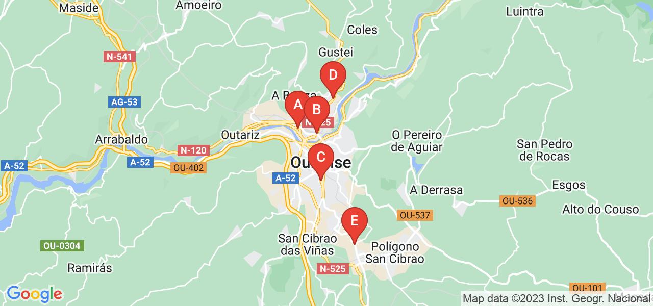 ¿Qué otras estaciones de autobús hay cerca de Estación de Autobuses de Ourense en Orense?